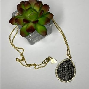 Park Lane Drusy necklace with crystals encrusted